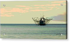 Boat Series 30 Shrimp Boat Gulf Of Mexico Louisiana Acrylic Print