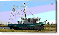 Boat Series 5 West Pointe A La Hache 2 Grounded Acrylic Print by Paul Gaj