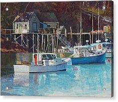 Boat Shack Acrylic Print by Robert Bissett