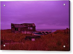 Boat Shed Blues Acrylic Print by Stuart Parnell
