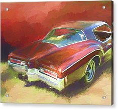 Acrylic Print featuring the digital art Boat Tail Buick by David King