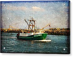 Acrylic Print featuring the photograph Boat Texture Manasquan Inlet by Angel Cher