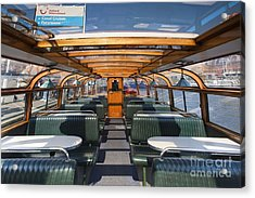 Boat Trip In The Channles Of Amsterdam Acrylic Print by Andre Goncalves