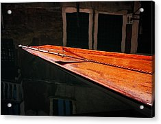 Boat Venice Italy Acrylic Print by Xavier Cardell