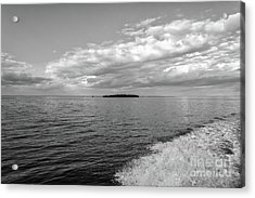 Boat Wake On Florida Bay Acrylic Print