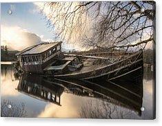 Boat Wreck On Loch Ness Acrylic Print