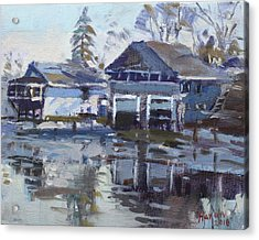 Boathouses By Icy Creek Acrylic Print
