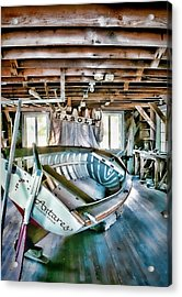 Boathouse Acrylic Print by Heather Applegate