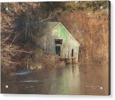 Boathouse On Solstice Acrylic Print