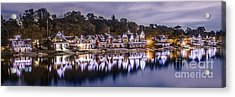 Boathouse Row Night Blue Acrylic Print