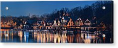Acrylic Print featuring the photograph Boathouse Row by Songquan Deng