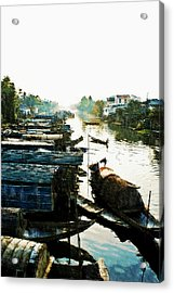Boathouses In Vietnam Acrylic Print