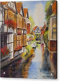 Acrylic Print featuring the painting Boating In Canterbury by Beatrice Cloake