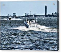 Boating Off Of Jones Beach Acrylic Print