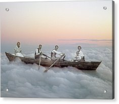 Boating On Clouds Acrylic Print by Martina Rall
