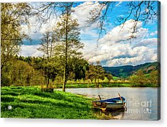 Boating On Golden Pond 254  Acrylic Print
