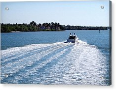 Acrylic Print featuring the photograph Boating On Naples' Inland Waterway by Lars Lentz