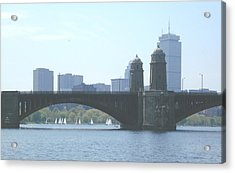 Boating On The Charles Acrylic Print by Laura Lee Zanghetti