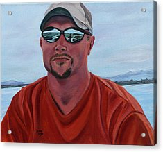 Boating On The Lake Acrylic Print