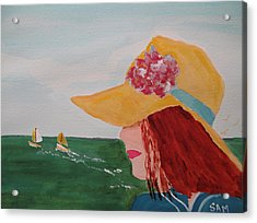 Acrylic Print featuring the painting Boating by Sandy McIntire