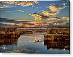 Boatman At Mullaghmore Harbour Acrylic Print