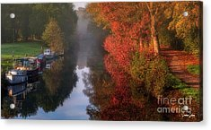 Boats And Channel Acrylic Print