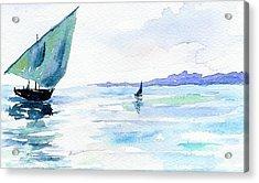Boats Acrylic Print