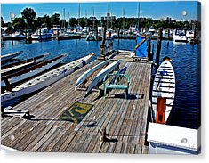 Boats At An Empty Dock 1 Acrylic Print by Nishanth Gopinathan