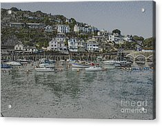 Acrylic Print featuring the photograph Boats At Looe by Brian Roscorla