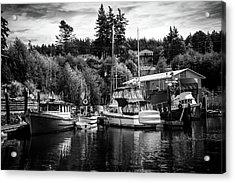 Boats At Lovric's Sea Craft, Washington Acrylic Print by TL Mair