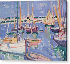 Boats At Royan Acrylic Print