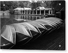 Boats At The Boat House Central Park Acrylic Print by Christopher Kirby