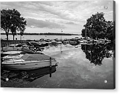 Boats At Wayzata Acrylic Print