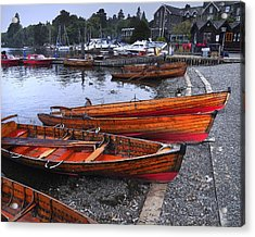 Boats At Windermere Acrylic Print