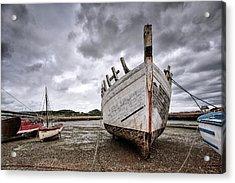 Boats By The Sea Acrylic Print by Nailia Schwarz