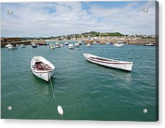 Boats In Habour Acrylic Print