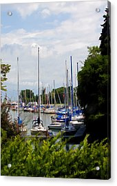 Boats In Harbour Acrylic Print by Art Tilley