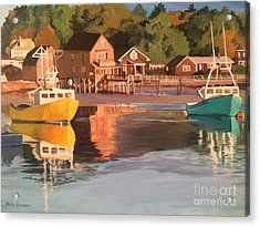 Boats In Kennebunkport Harbor Acrylic Print