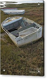 Boats In Ria Formosa Acrylic Print