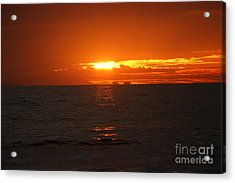 Boats In The Distance  Acrylic Print by Wendy  Coloma