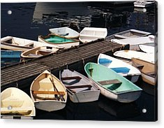Boats In Waiting Acrylic Print by John Scates
