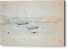 Boats Acrylic Print by Julian Alden Weir