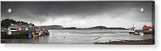 Boats Moored In The Harbor Oban Acrylic Print