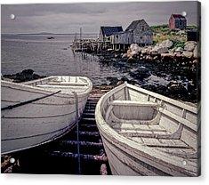 Boats Near Peggys Cove Acrylic Print