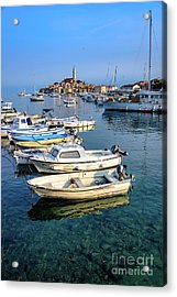 Boats Of The Adriatic, Rovinj, Istria, Croatia  Acrylic Print