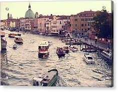 Acrylic Print featuring the photograph Boats Of Venice by Brad Scott