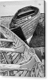 Boats On Beach - Greystones Harbour Acrylic Print by Gary Rowe
