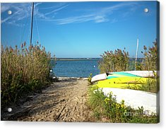 Acrylic Print featuring the photograph Boats On Long Beach Island by John Rizzuto