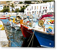 Boats On Parthos Acrylic Print