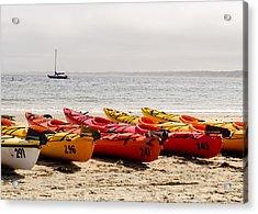 Boats On The Shore Acrylic Print